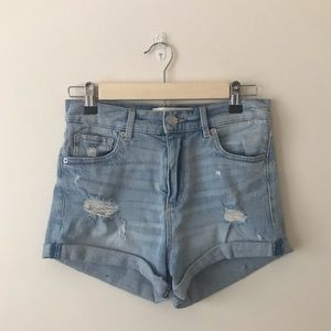 Garage Light Wash Denim Shorts